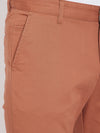 KROSSSTITCH Men's Brown Casual Slim Fit Chinos