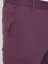 KROSSSTITCH Men's Purple Casual Slim Fit Chinos