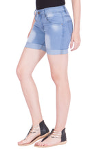 Load image into Gallery viewer, Kopyneko Women's Denim Blue Shorts