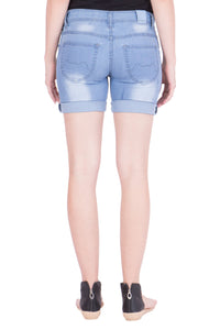Kopyneko Women's Denim Blue Shorts