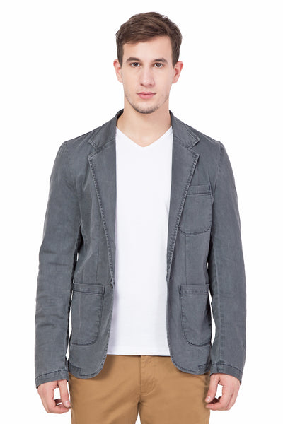 Krossstitch Men's Casual Party Slim Fitted Button Denim Blazers Jacket Suit