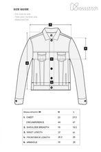 Load image into Gallery viewer, Krossstitch Full Sleeve Dark Blue Men's Denim Jacket with Brass Button