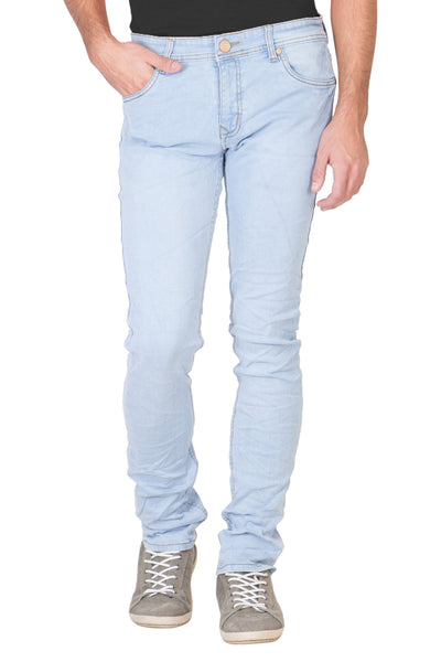 KROSSSTITCH Men's Slim Fit Denim Light Blue Jeans