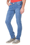 KROSSSTITCH Men's Narrow Fit Denim Light Blue Jeans