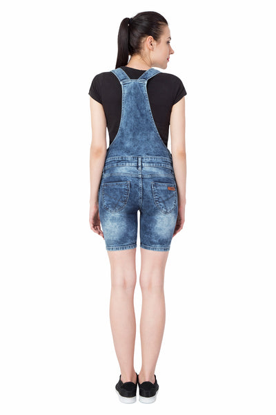 KROSSSTITCH Denim Capri Dungarees For Women & Girls