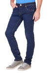 KROSSSTITCH Men's Slim Fit Denim Dark Blue Jeans