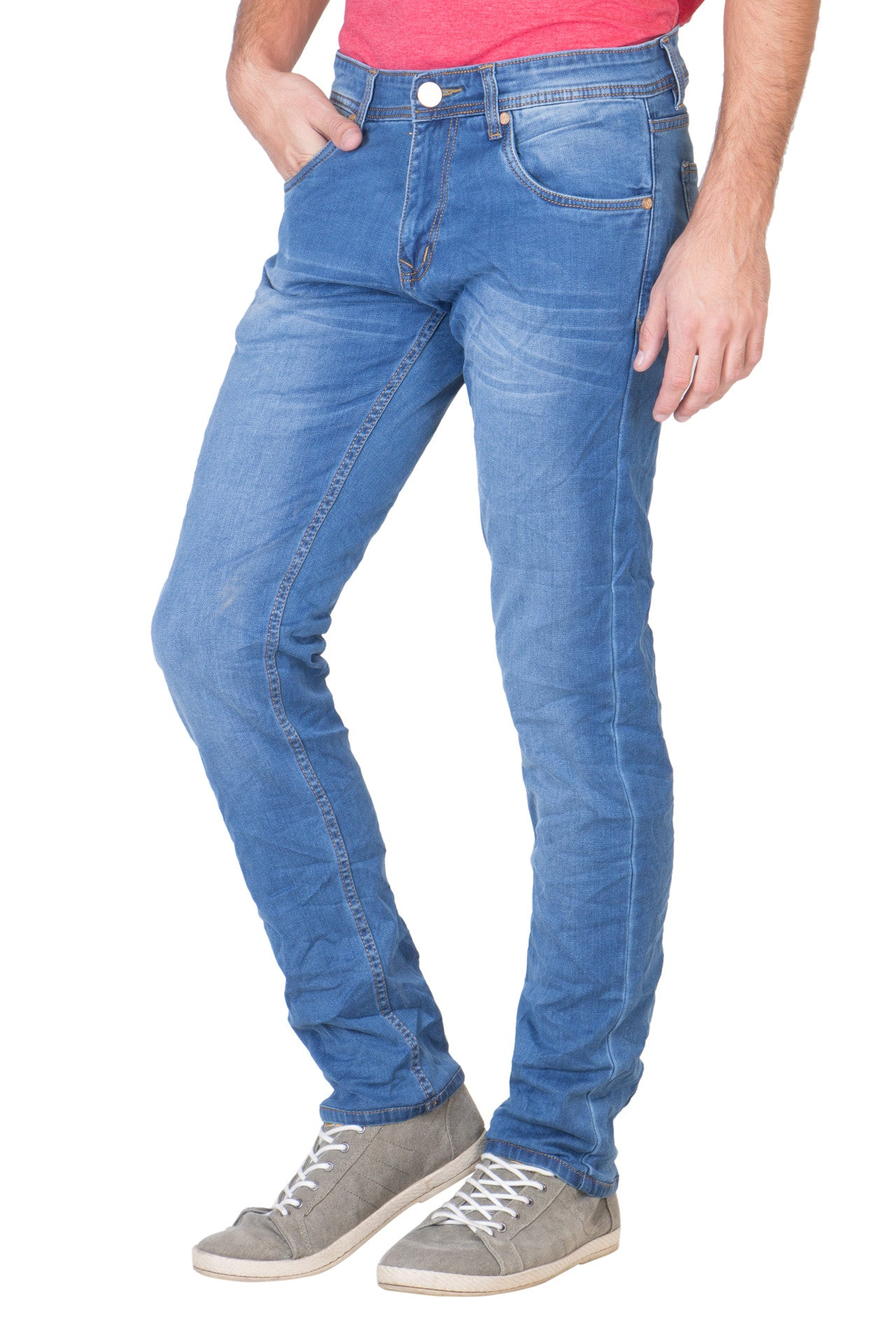 KROSSSTITCH Men s Slim Fit Denim Blue Jeans – Krossstitch 3784a3ea923