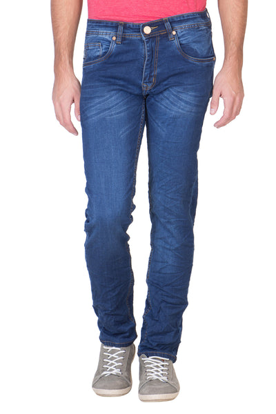 KROSSSTITCH Men's Narrow Fit Denim Blue Jeans
