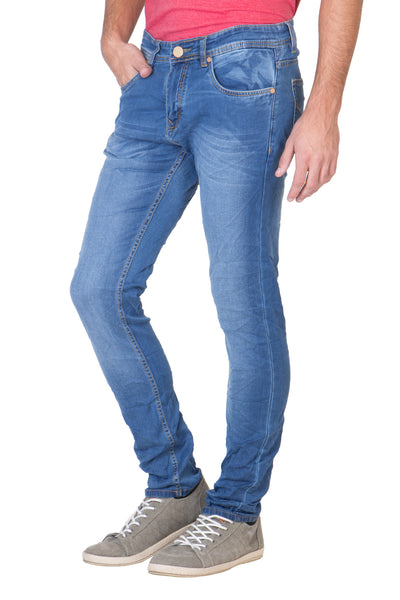 KROSSSTITCH Men's Straight Fit Denim Light Blue Jeans
