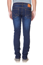 Load image into Gallery viewer, KROSSSTITCH Men's Straight Fit Denim Dark Blue Jeans