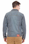 Krossstitch Full Sleeve Men's Denim Jacket with Brass Button