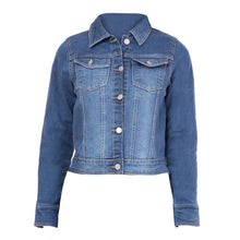 Load image into Gallery viewer, Kopyneko Full Sleeve Short Cropped Denim Jacket for Teenagers | Girls Age 12 to 16 Years | Winter Wear