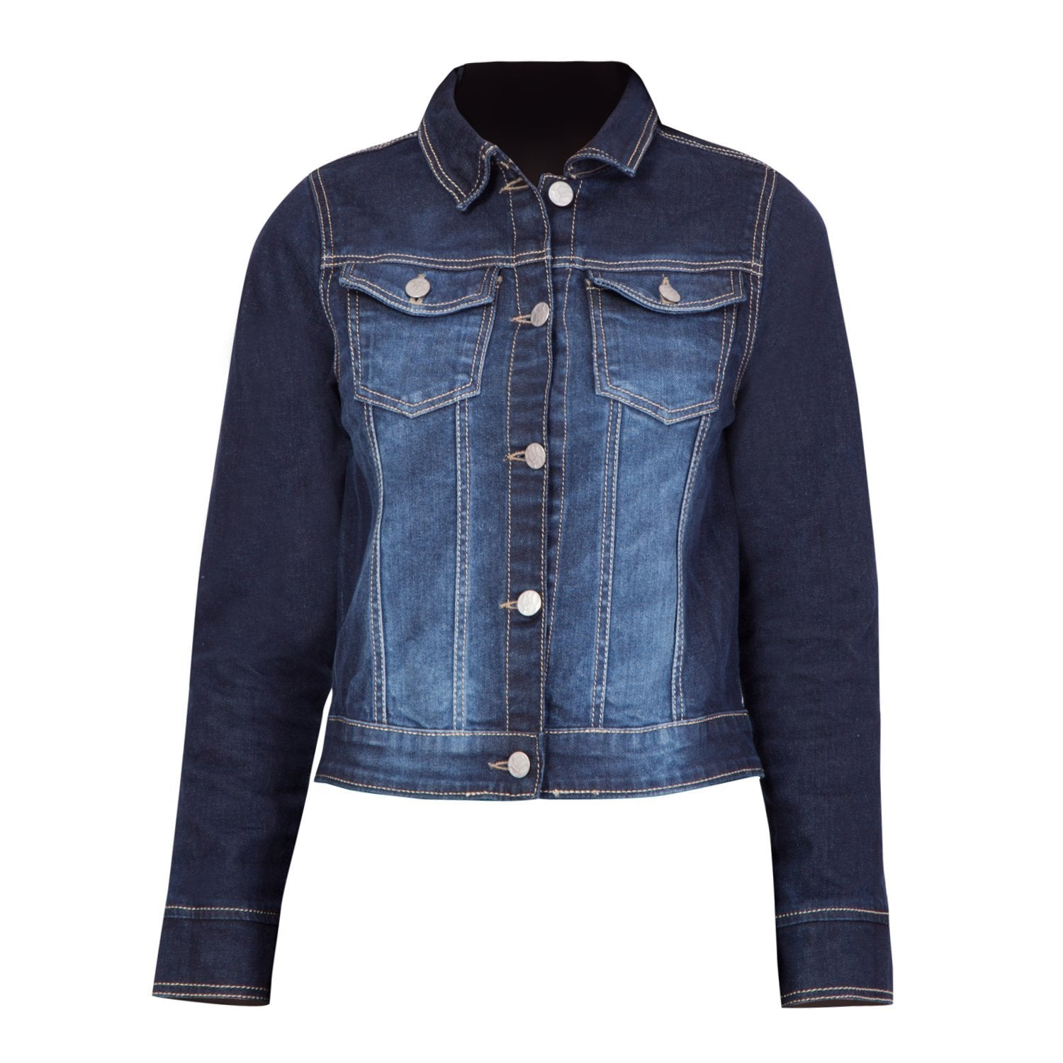 Kopyneko Full Sleeve Short Cropped Denim Jacket for Teenagers | Girls Age 12 to 16 Years | Winter Wear