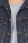 Sleeveless Blue Men's Denim Jacket with Brass Button