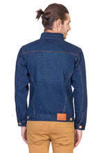 Load image into Gallery viewer, Full Sleeve Blue Men's Denim Jacketwith Zipper