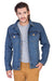 Full Sleeve Blue Men's Denim Jacket with Brass Buttons
