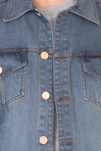 Load image into Gallery viewer, Full Sleeve Tinted Light Grey Men's Denim Jacket with Brass Buttons