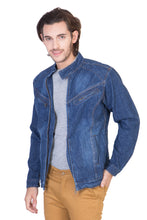 Load image into Gallery viewer, Full Sleeve Light Blue Men's Denim Jacket with Zipper