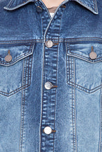 Load image into Gallery viewer, Krossstitch Full Sleeve Men's Denim Jacket with Brass Button