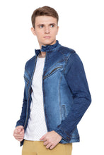 Load image into Gallery viewer, Krossstitch Full Sleeve Men's Denim Jacket with Zip Closer
