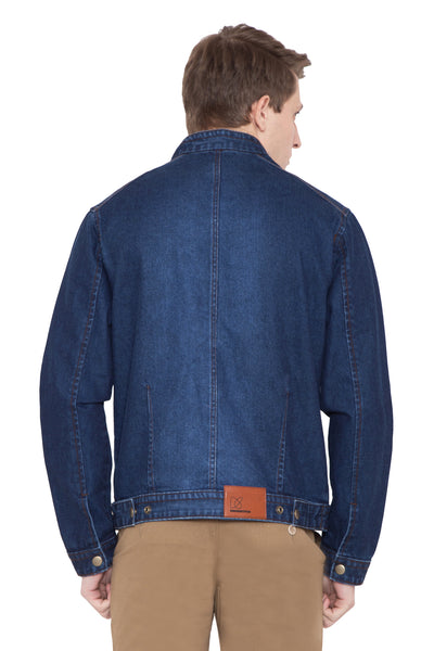 Krossstitch Full Sleeve Men's Denim Blue Jacket with Zip Clouser