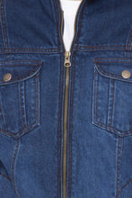 Load image into Gallery viewer, Krossstitch Full Sleeve Men's Denim Blue Jacket with Zip Clouser