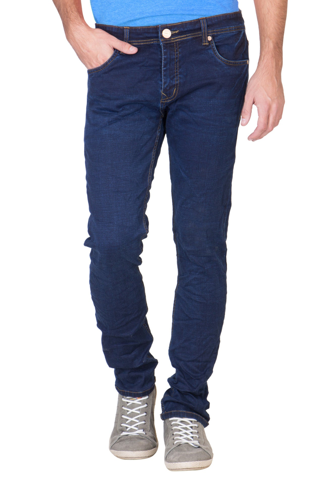 Men's Slim Fit Denim Dark Blue Jeans