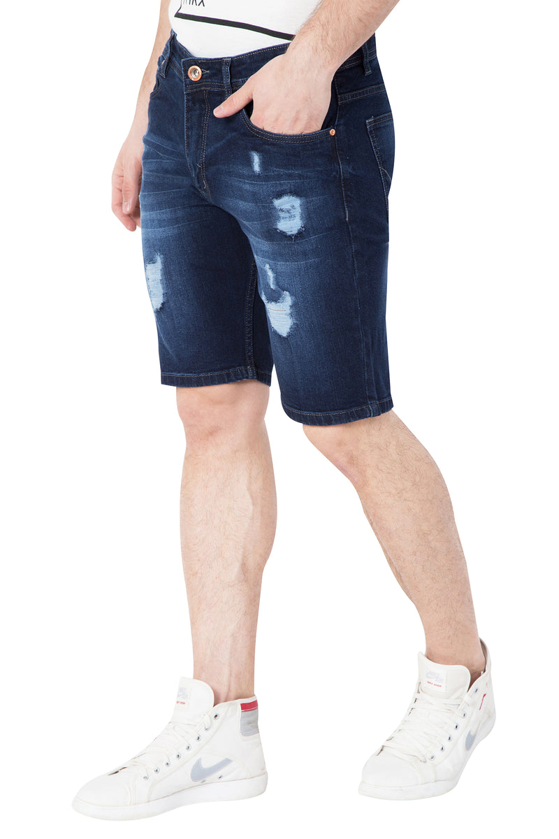 Krossstitch Men's Cloud Wash Stretchable Denim Shorts