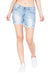 KROSSSTITCH High waist Denim Shorts Light Blue For Women