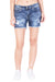 KROSSSTITCH High waist Denim Shorts Sky Blue For Women