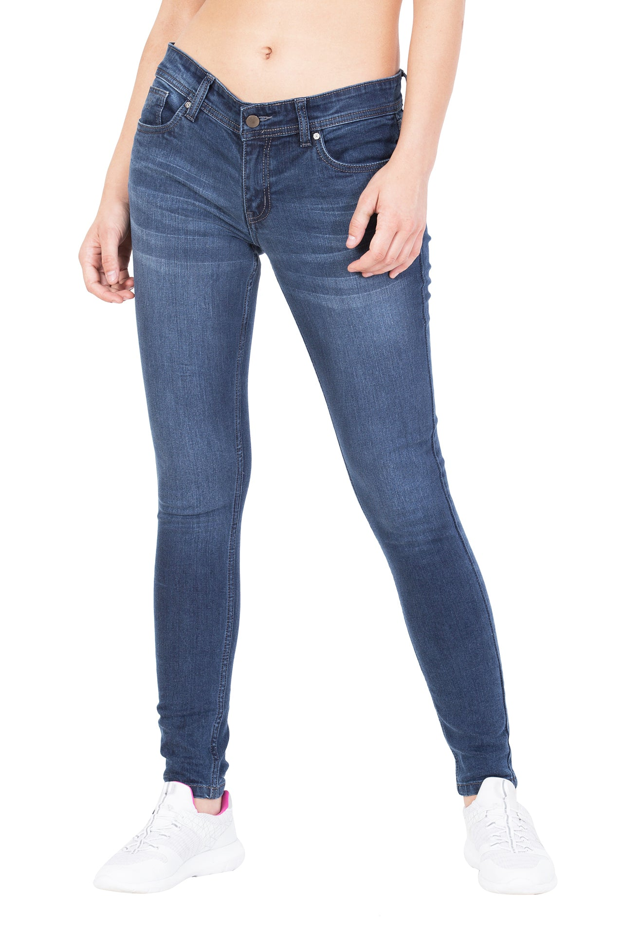 KROSSSTITCH Slim Fit Mid rise Casual Denim Blue Jeans For Women