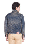 Krossstitch Full Sleeve Brown Cloud Wash Men's Denim Jacket with Brass Button