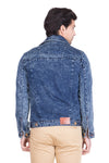 Krossstitch Full Sleeve Dark Blue Men's Denim Jacket with Brass Button