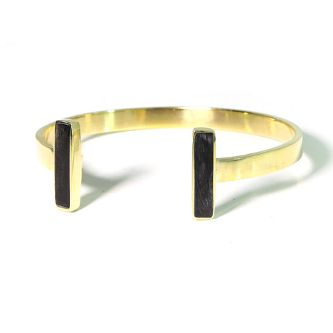 Fair Trade Jewelry - Brass horn cuff