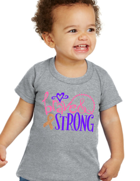 "Kids / Toddler ""BRAVE & STRONG"" Tee"