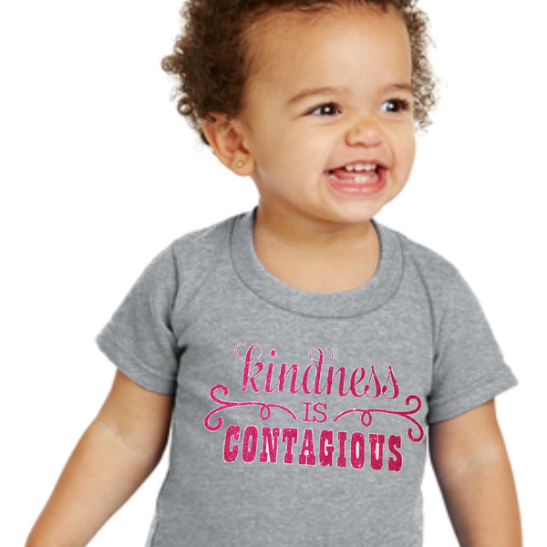"Kids / Toddler ""KINDNESS is CONTAGIOUS"" Tee"