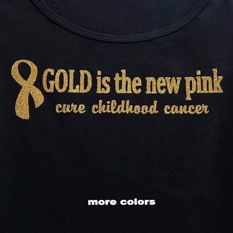 "KID'S  ""Gold is the new pink"" Short Sleeve Cotton Tee"