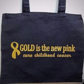 """Gold is the new pink"" Cotton Tote Bag"