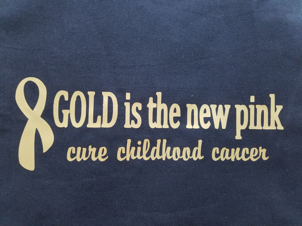 "MEN'S ""Gold is the New Pink"" Short Sleeve Cotton Tee"