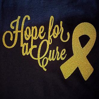 "Glittery ""Hope for a Cure"" Cotton Tote Bag"