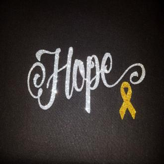 "KID'S  Glittery ""HOPE"" Short Sleeve Cotton Tee"