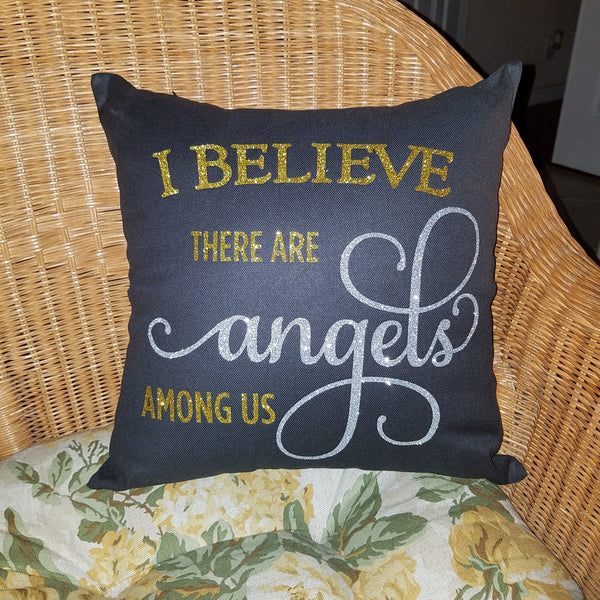 Angels Among Us Throw Pillow