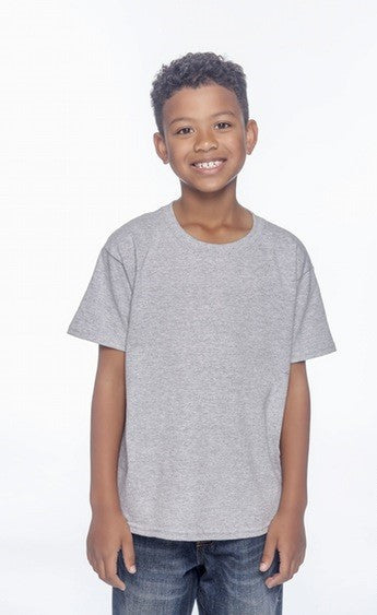 "KID'S  ""More Than 4"" Heather Grey Short Sleeve Cotton Tee"