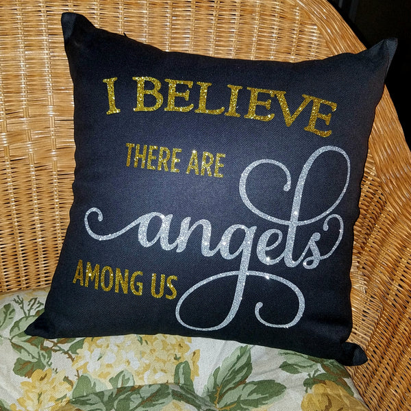 Angels Among Us Throw Pillow Cover