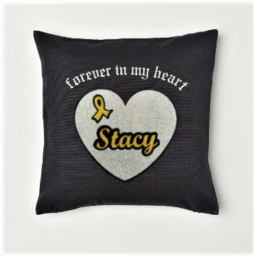 Forever in My Heart Throw Pillow Cover