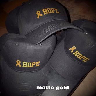 "Gold Ribbon ""HOPE"" Baseball Cap"