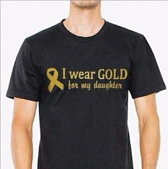 "MEN'S  ""I wear GOLD for my daughter"" Short Sleeve Cotton Tee"