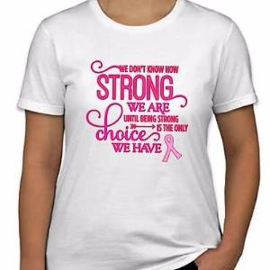 "LADIES ""How Strong"" Tee (Any Color Ribbon)"