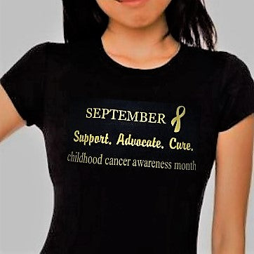 "Ladies ""SEPTEMBER..."" Awareness Cotton Short Sleeve Tee"