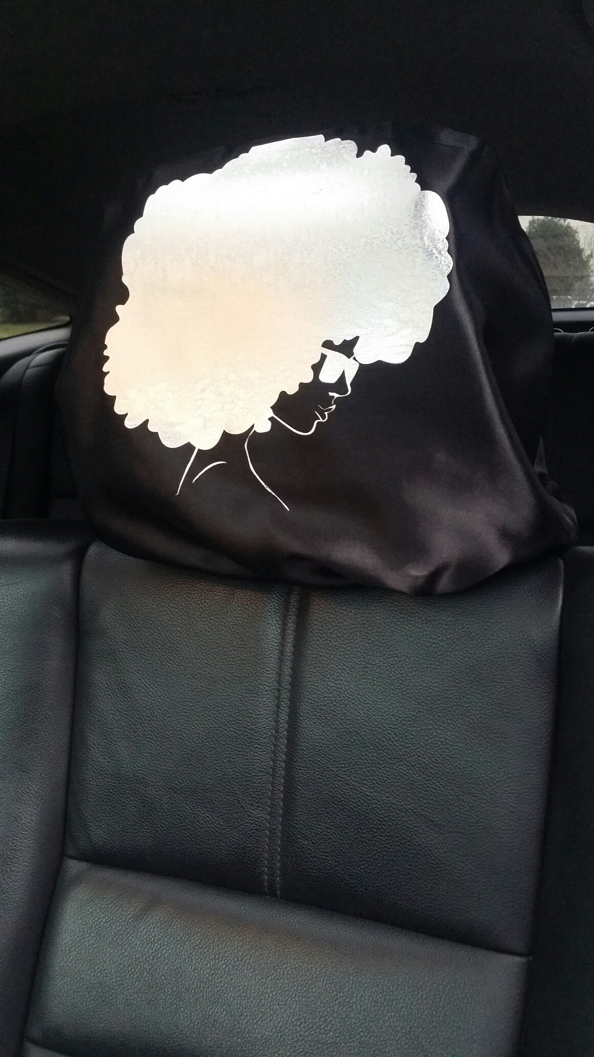 Fro Friendly, The First Satin Cover For Your Headrest!